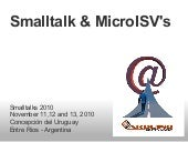 Smalltalk and MicroISV's