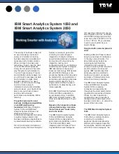 IBM Smart Analytics System 1050 And...