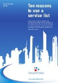 Smart cities - 10 reasons to use a service list