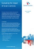 Smart Cities - Evaluating the impact of local e-services