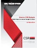 Smarter CSR Budgets:  Connecting value to budget in 8 steps