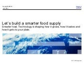 Smarter planet: Food supply