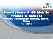 Smartphone & 4G Mobile Trends & Issues