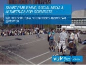 Smart publishing   social media and altmetrics for scientists