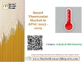 Smart Thermostat Market in APAC 2015 - 2019