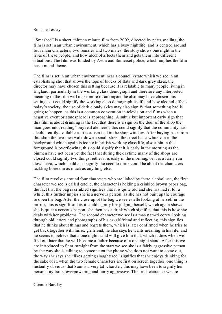 Smashed essay