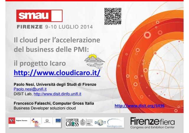 Il cloud per l'accelerazione del business delle PMI: il progetto Icaro