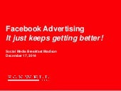 Facebook Advertising: It Just Keeps Getting Better