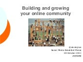 Building and growing your online co...