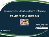 Route To IPO Success