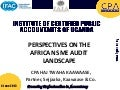 Haji Kaawaae - Perspectives On the African SME Audit Landscape
