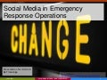Social Media in Emergencies
