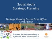 Social Media Strategic Planning for...