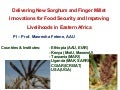 Delivering new sorghum and finger millet innovations for food security and improving livelihoods in eastern Africa