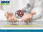 What's in my SEO Toolbox: Linkbuilding Edition - SMX Milan 2014