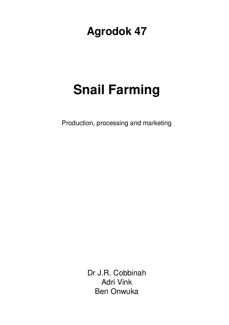 Snails Farm Snail Farming
