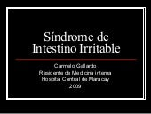 HCM - Síndrome De Intestino Irritable