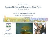 Indiana's Wildlife - Sustainable Na...
