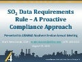 SO2 Data Requirements Rule - a Proactive Compliance Approach
