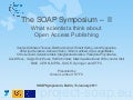 Soap symposium-talk-ii