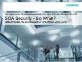 SOA Security - So What?