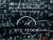 Aim First, Shoot Second: Mastering the complexity of B2B digital marketing