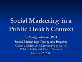 Social Marketing in a Public Health...