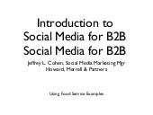 Introduction to Social Media B2B wi...