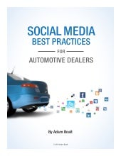 Social Media Best Practices For Automotive Dealers