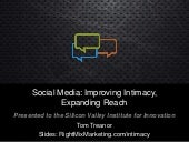 Social Media For Brands: How Intimacy Impacts Reach