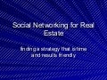 Social Networking For Real Estate