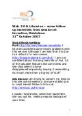 (Social) Web 2.0 follow up notes and resources