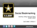 Social Bookmarking - - All Service Social Media Conference - February 2011