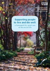 Supporting people to live and die well