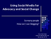 Using Social Media for Advocacy and...