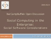 Social Computing In The Enterprise ...