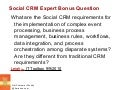 Social CRM Expert Question CxC Matrix