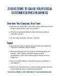 Social Customer Service Worksheet