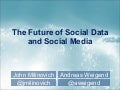 The Future of Social Data and Social Media