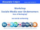 Workshop Sociale media voor onderne...