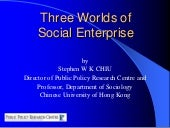Social enterprise policy in an inte...