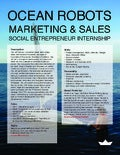 Social entrepreneur internship in Ocean Robotics