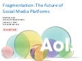 Social Fresh 2012: Fragmentation: The Future of Social Media Networks