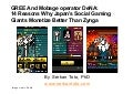Social Games: Why GREE And Mobage Operator DeNA Monetize Better Than Zynga
