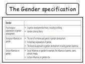 Gender: Social influences on gender...