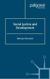 Social justice and development by b...