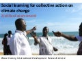 Social learning for collective action on climate change