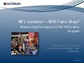 Social Media Analysis - NFL Lockout will the Fans Stay