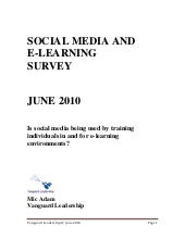 Social Media And E Learning Survey ...