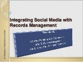 Integrating Social Media with Records Management